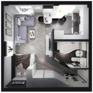 Перепланировка квартиры в студию фото